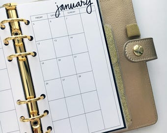 Personal Size Planner Inserts - Monthly