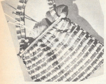 Yarn Tote ~ Knit two - Purl two 1941 design