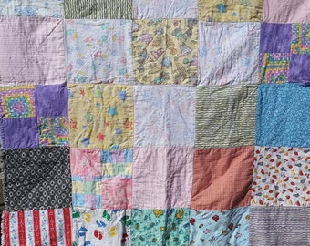 Baby Blocks Flannel Rag Quilt
