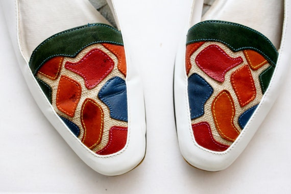 7 Sz 80's Pattern Loafers