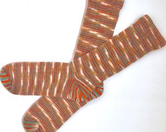 Handmade Wool Socks 429 -- Women's Size 10-12 or Men's Size 8-10