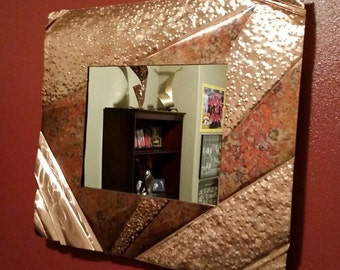 "Abstract Copper Mirror Sculpture by Dennis Boyd (DB Designs - Creating Metal ""works of art"") Mirror 8"
