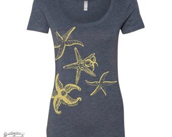Womens STARFISH TriBlend Scoop Neck Tee - T Shirt S M L XL XXL (+ Colors)