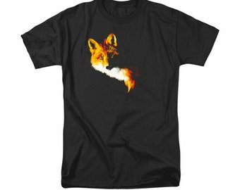 Fox T-shirt, Southwestern Art, Woodland Animal, Men's Clothing, Digital Art, Fashion Design, Women's T-Shirt, Uni-Sex Design, Wildlife Art