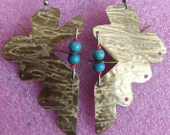 Abstract Arrowhead Earrings