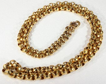 Antique Victorian Graduated 9k Gold Chain Necklace