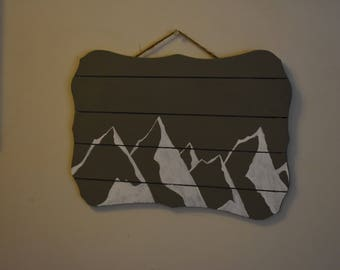 Painted Mountain Wall Art