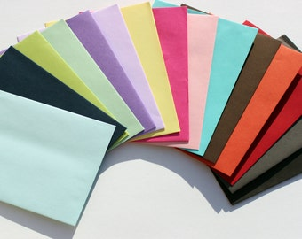 "Colored Envelopes 5"" x 7"" - A7 - Straight Edge - Self Sealing - Invite Mailer - Baby Shower - Bridal Stationery - Paper Goods & Supplies"