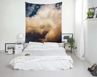 Cloud Tapestry, Sky Print, Storm Cloud, Home Gifts, Wall Decoration, Bedroom Wall Art, Room, Clouds. UL049