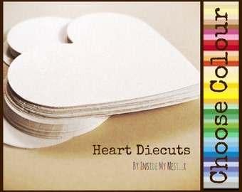 Heart Die Cuts Paper Hearts Cutout Cardstock Hearts 80gsm 160gsm - Choose Colour
