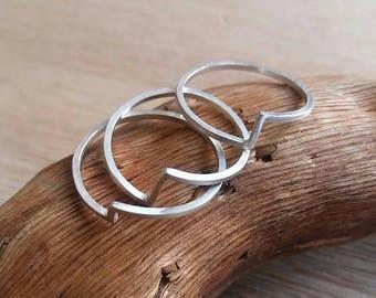 "Ring / / ""zigzag"" Silver 925 (piece)"