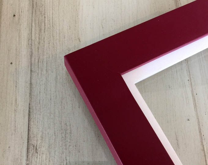 Solid Color of Your Choice in White Build Down Style - Choose your frame size 3x3 up to 11x14 / 12.5x12.5 inches - FREE SHIPPING - 2 Colors