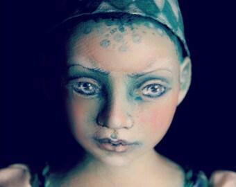 Luca - Commedia dell'arte inspired OOAK cloth doll