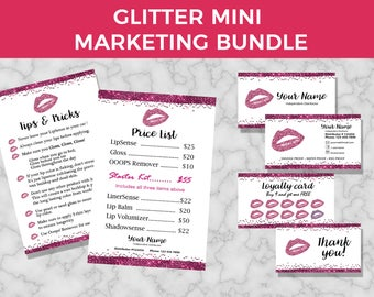 Lipsense Marketing Kit,  Senegence Marketing Kit, Lip Sense Marketing, Lipsense Loyalty and Business Cards, Senegence Marketing Bundle