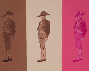 Neapolitan Napoleon // Napoleon history pun art print