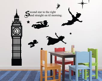 Marvelous Peter Pan Wall Decal | Etsy