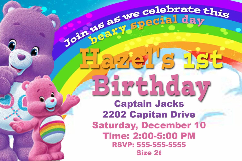 Carebears birthday party invitation zoom monicamarmolfo Choice Image