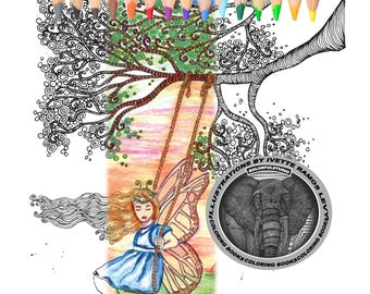 Girl with wings, Swing Girl, fairy,tree.