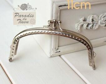 PROMO! 2 x bag DOUBLE 11 cm silver Metal clasps