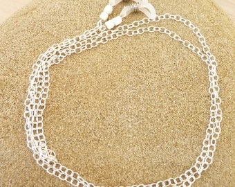 Sterling silver eyeglass chain, silver glasses chain