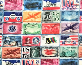 US Air Mail Postage Stamp Scarf