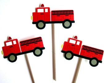 Firetruck Cupcake Toppers, Item# 82116926