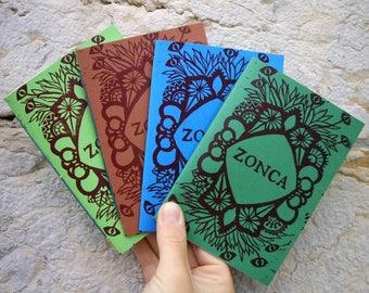 "Fanzine ""Zonca"" - cover printed linocut"