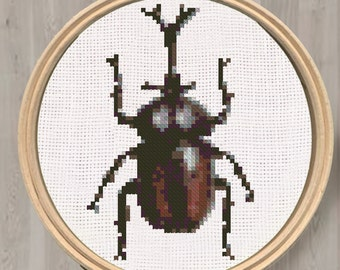 Cross stitch pattern, beetle