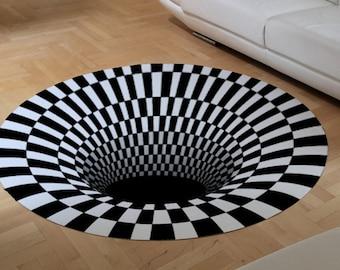 The 3D Digital Printing Illusion Hole carpet Rug,Pad ,Mat HIT !