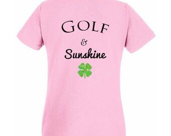 Golf & sunshine - NEW shirt (Pink)