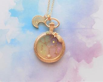 Pastel Twinkle Galaxy Necklace