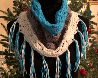 Crocheted scarf cowl