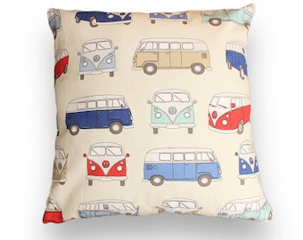 Volkswagen bus cushion cover of Red T1 50 x 50cm