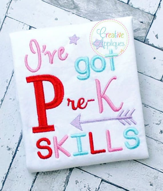 Ive Got Pre K Kindergarten Skills Digital Machine Embroidery