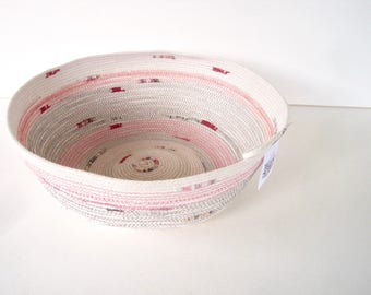 Fruit Basket - Rope Coiled Basket - Fruit Bowl - Low Bowl
