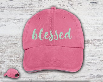 Blessed Cap Pigment Dyed Hat Choose Your Colors