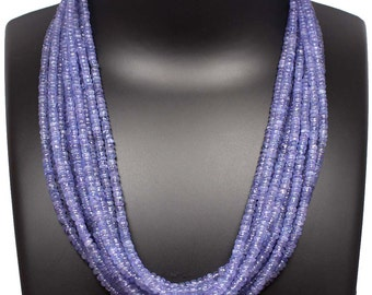 """Close Out Deal TANZANITE Smooth Roundelle Beads, Natural Tanzanite,AAA Fine Making Lavender Smooth beads 16"""" 3-5MM (sku2309)"""