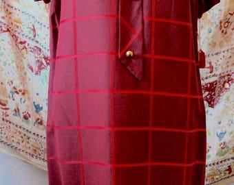 1960s Vintage Red Dress