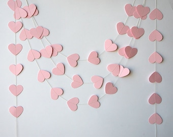 Paper garland, Wedding decorations, Wedding garland, Heart garland, Pink garland, Wedding garland, Baby shower, Bridal shower, KCO-3042