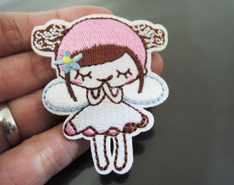 Cute Little Girl Patch Lady patches Badge patch Applique embroidered patch Iron On Patch Sew On Patch