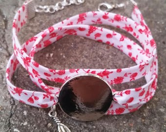 Bracelet liberty 3 tours avec médaillon à graver