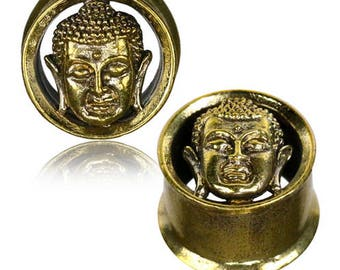 Brass buddha earplug Tunnel Ecarteur