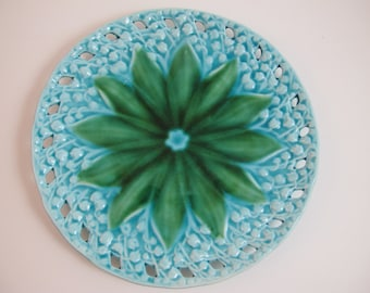 Majolica Plate Lily of the Valley Germany