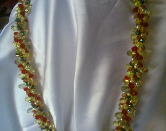 A Dazzling Christmas Necklace full of Christmas Color and Life