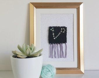 Pisces Astrological Constellation - Framed Mini Weave
