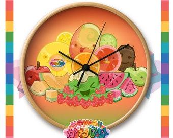 Kawaii Universe - Cute Classic Fruits Group Designer Clock