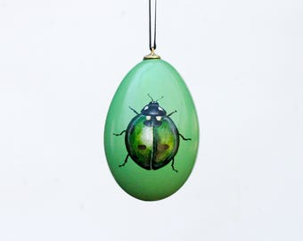 Luck Green Lady Bug Ornament