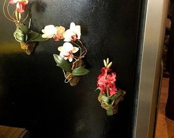 Flower Fridge Magnets - Home Decor - Kitchen Decor - Several Colors - Refrigerator Magnets - Flower Magnets - Rose Fridge Magnets