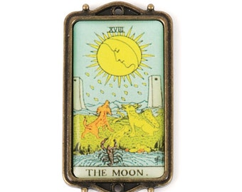 Tarot Card Pendant - The Moon (STEAM213)