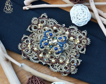"Belt buckle and Brooch ""Anna"""